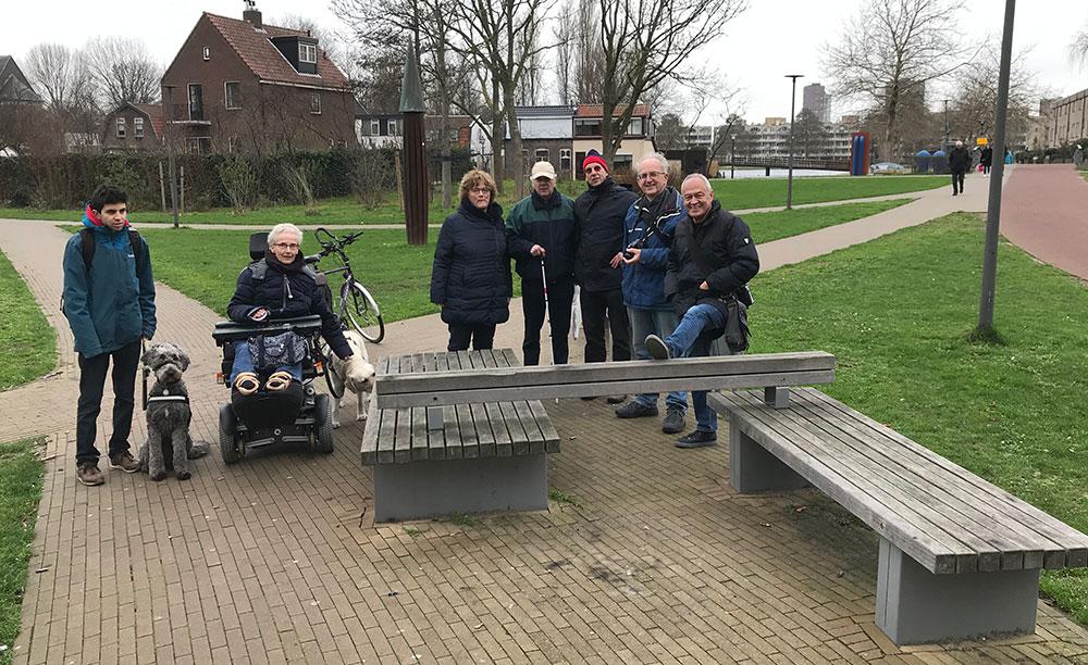 Delegatie van de Toegankelijkheidsraad Zoetermeer die de schouw in het gebied heeft uitgevoerd